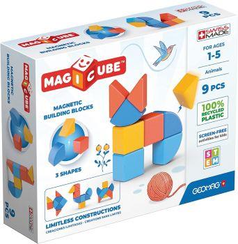 Geomag Magicube Shapes Animals 9pcs 00201
