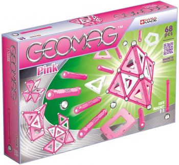 Geomag Pink Magnetic Blocks 68pcs 00342