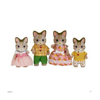 Sylvanian Families Striped Cat Family 5180