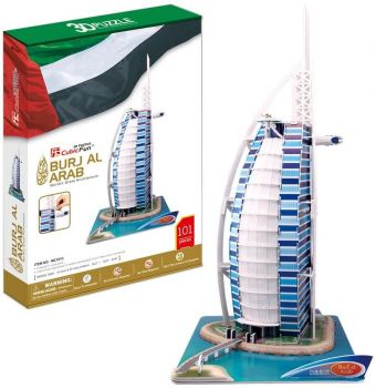 CubicFun Burj Al Arab 3D Puzzle Set 101 Pieces MC101H