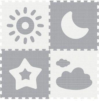 Sunta Weather Series Classic Puzzle Mat Grey 4pcs 911884