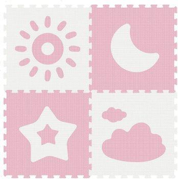 Sunta Weather Series Classic Puzzle Mat Pink 4pcs 911914