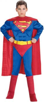 Rubies Deluxe Muscle Chest Hero Superman Costume 888016-S