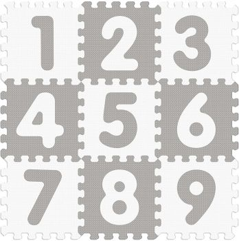 Sunta Sunny Tales Numbers Anti Bacterial Puzzle Mat- 9 Pieces 911853