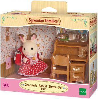 Sylvanian Families Chocolate Rabbit Sister Set 5016
