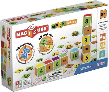 Geomag Magicubes Math Building and Clips 55pcs 00082