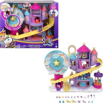 Polly Pocket Rainbow Funland Theme Park Playset GYK44