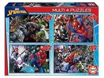 Educa Multi 4 Puzzles 50-80-100-150 Ultimate Spider Man 18102