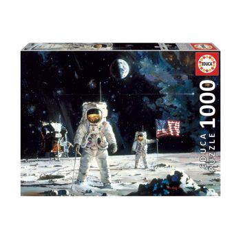 Educa First Men on the Moon 1000 pc Jigsaw Puzzle