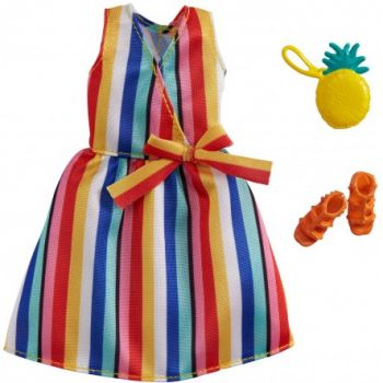 Barbie Clothes Lot Striped Dress Orange Sandals Yellow Pineapple Purse Online in UAE