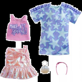 Barbie Fashion Star Print Dress Pink Iridescent Skirt 2pk Online in UAE