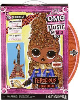 LOL Surprise! OMG Remix Rock Ferocious and Bass Guitar Fashion Doll MGA-577591