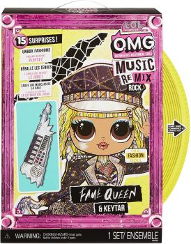 LOL Surprise! OMG Remix Rock Fame Queen and Keytar Fashion Doll MGA-577607
