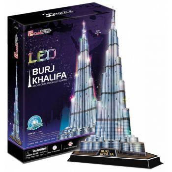 CubicFun LED Burj Khalifa 3D Puzzle Set 136 Pieces L133H