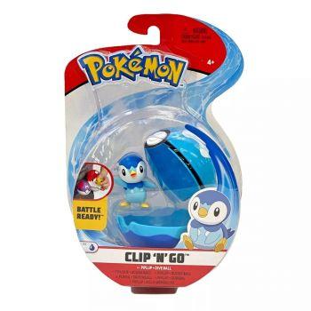 Pokemon Clip 'n Go Piplup & Dive Ball Figure Set 97899