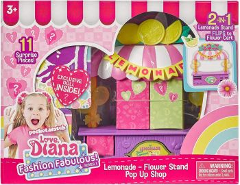 Love Diana Pop Up Playset Lemonade Flower Stand 33042