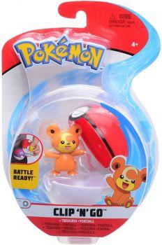 Pokemon Clip 'n Go Teddiursa & Poke Ball Figure Set PKW0152