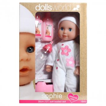 Dolls World Sophia Soft Body Doll with Deluxe Hair 16inch 8813