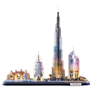 CubicFun 3D Puzzle with LED Lighting Dubai Cityline L523H