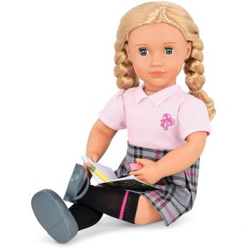 Our Generation Hally Deluxe School Girl Doll with Book BD31285AZ