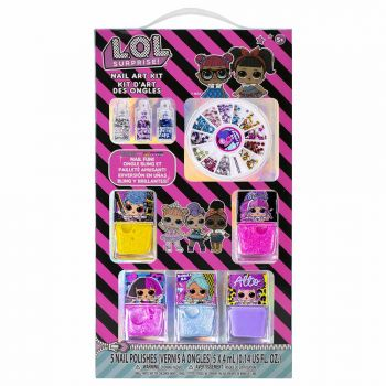 LOL Surprise Nail Polish with Nail Gem Wheel and Glitter Vials LL0222GA