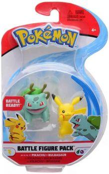 Pokemon Battle Figure Pack - Bulbasaur vs Pikachu PKW0132