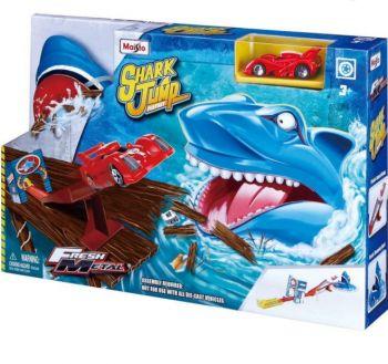 Maisto Fresh Metal Shark Jump Kids Car Track Race 11061