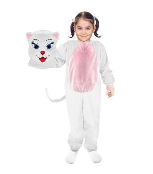 Cat Costume White 6-7Y/O
