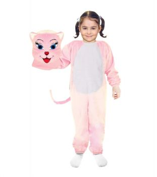 Cat Costume Pink 6-7Y/O