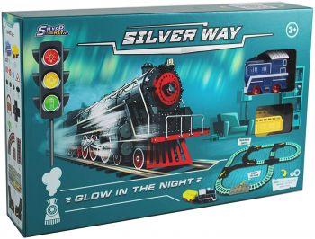 Silver Way Glow in the Dark Train Set SW8323