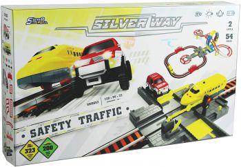 Silver Way Railway & Auto Track Playset D-Power SW8653