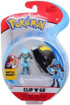 Pokemon Clip 'n Go Riolu & Ultra Ball Figure Set PKW0150