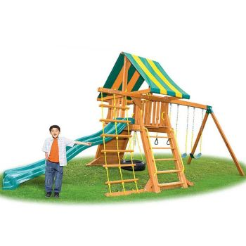 Eastern Jungle Gym Supremescape Swing Set With Slide & Tent EJGSS