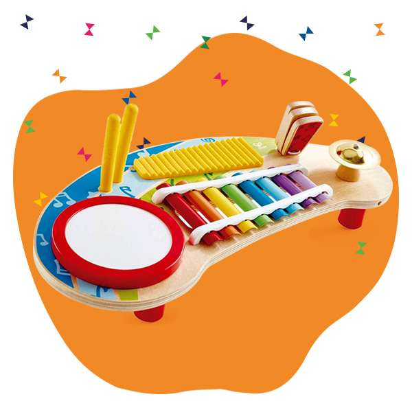 musical toy instruments for kids banner
