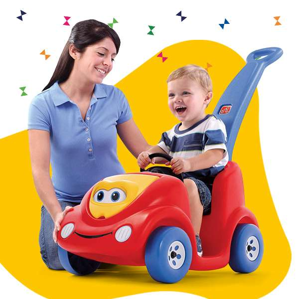 pushing cars for kids